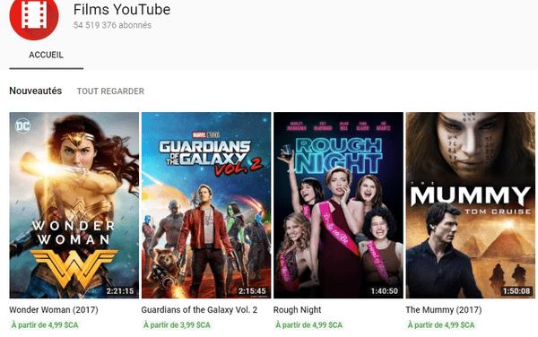 Youtube Films (Movies) : 400 films intégraux gratuits