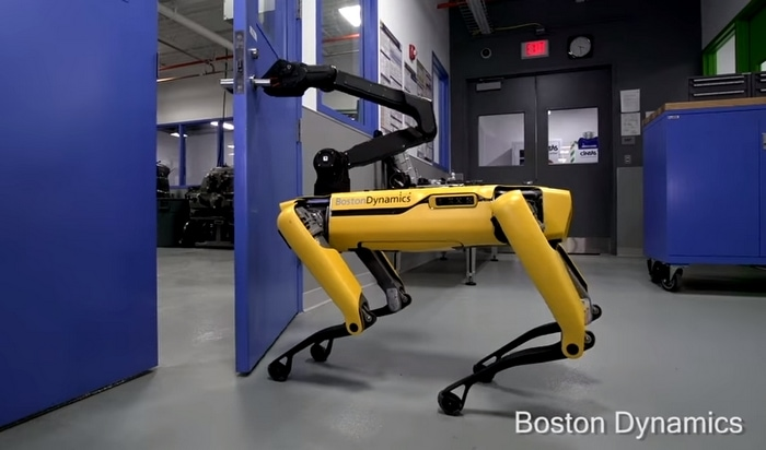Robot SpotMini - ScreenShot de Youtube Boston Dynamics