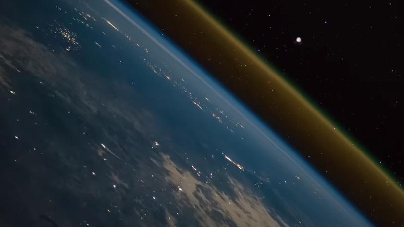 Decollage Fusee vue de l'ISS